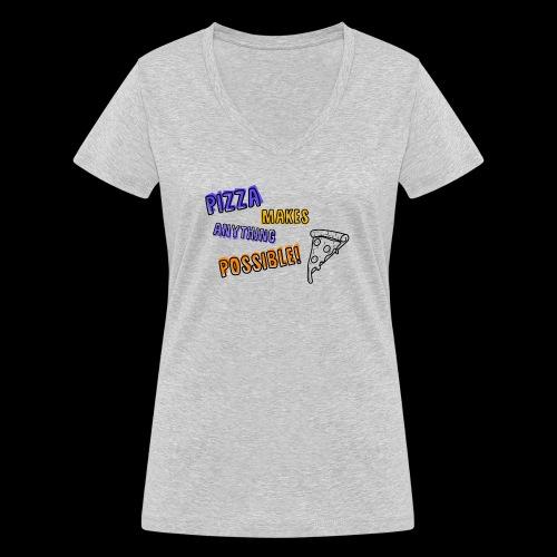 Pizza makes anything possible! - Colorful Design - T-shirt ecologica da donna con scollo a V di Stanley & Stella