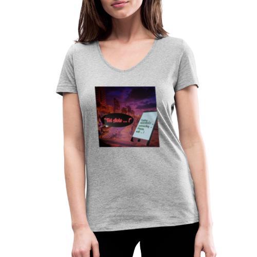 Tel Aviv is calling - Sehnsuchtsorte - Frauen Bio-T-Shirt mit V-Ausschnitt von Stanley & Stella