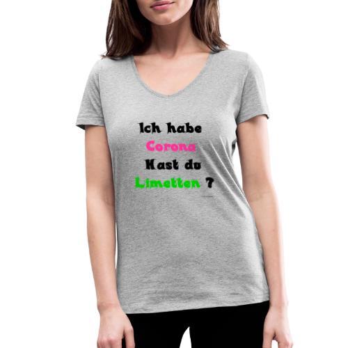 Corona Limetten - Frauen Bio-T-Shirt mit V-Ausschnitt von Stanley & Stella