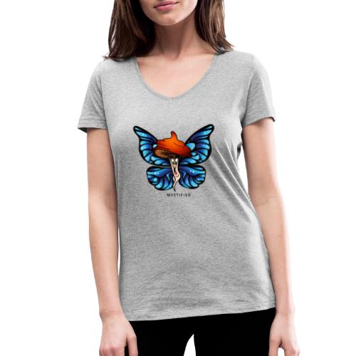 Mystified Butterfly - Vrouwen bio T-shirt met V-hals van Stanley & Stella