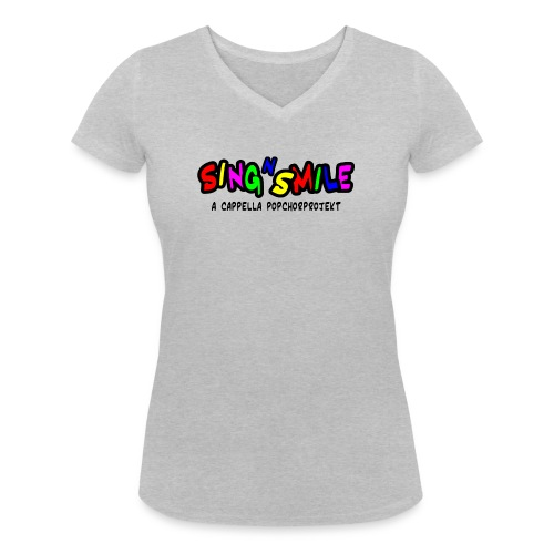sns-Logo 1-zeilig - Frauen Bio-T-Shirt mit V-Ausschnitt von Stanley & Stella