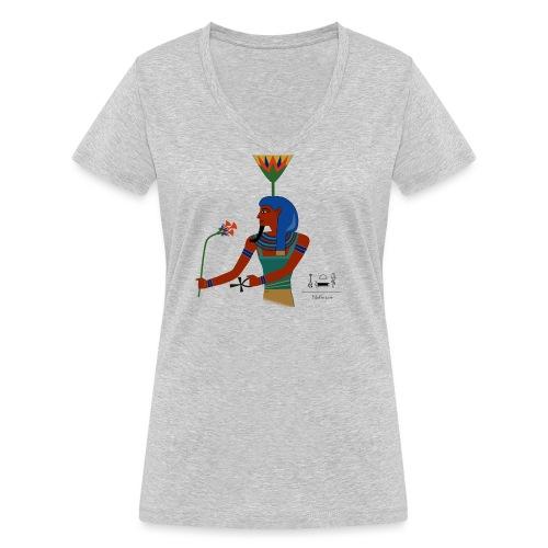 Nefertem I altägyptische Gottheit - Frauen Bio-T-Shirt mit V-Ausschnitt von Stanley & Stella