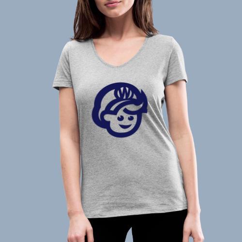 logo bb spreadshirt bb kopfonly - Frauen Bio-T-Shirt mit V-Ausschnitt von Stanley & Stella