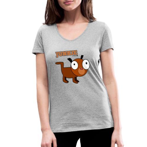 Junkie - Frauen Bio-T-Shirt mit V-Ausschnitt von Stanley & Stella