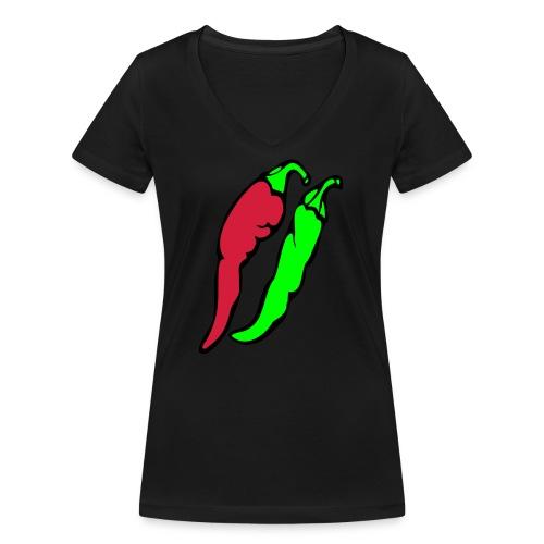 Chilli - Ekologiczna koszulka damska z dekoltem w serek Stanley & Stella