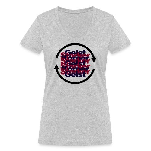körpergeist. - Frauen Bio-T-Shirt mit V-Ausschnitt von Stanley & Stella