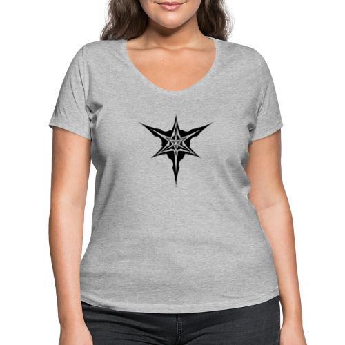 Psybreaks visuel 1 - black color - T-shirt bio col V Stanley & Stella Femme