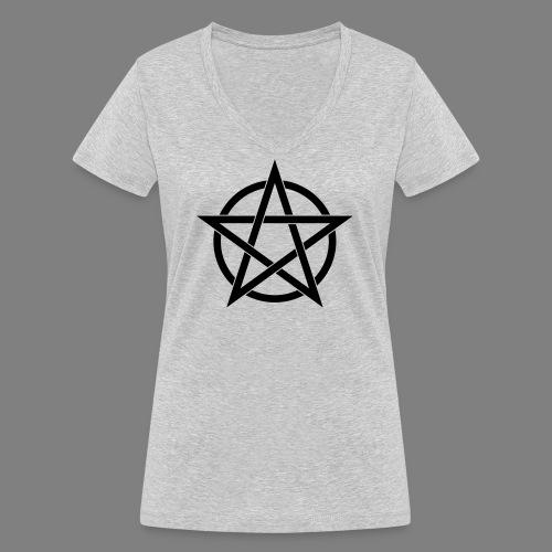 pentagramm - Frauen Bio-T-Shirt mit V-Ausschnitt von Stanley & Stella