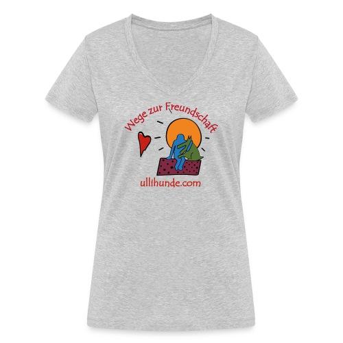 Ullihunde - Wege zur Freundschaft - Frauen Bio-T-Shirt mit V-Ausschnitt von Stanley & Stella