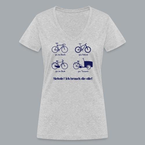 Bikepark - Frauen Bio-T-Shirt mit V-Ausschnitt von Stanley & Stella