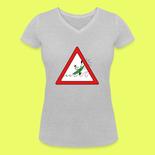 Kajak Unfall im Dreieck - Frauen Bio-T-Shirt mit V-Ausschnitt von Stanley & Stella