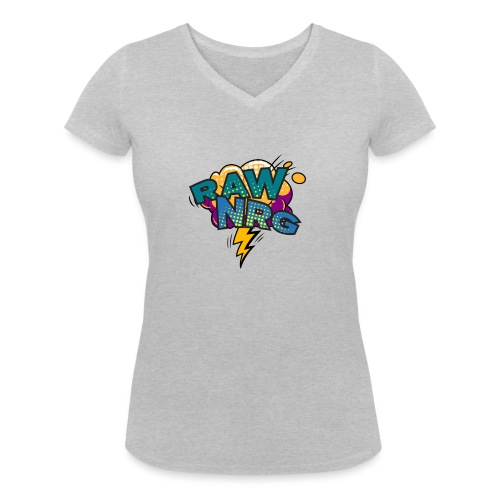 Raw Nrg Comic 1 - Women's Organic V-Neck T-Shirt by Stanley & Stella