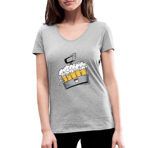 Kölsche Sticker - Kranz.png - Frauen Bio-T-Shirt mit V-Ausschnitt von Stanley & Stella