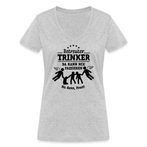 betreuter-trinker - Frauen Bio-T-Shirt mit V-Ausschnitt von Stanley & Stella