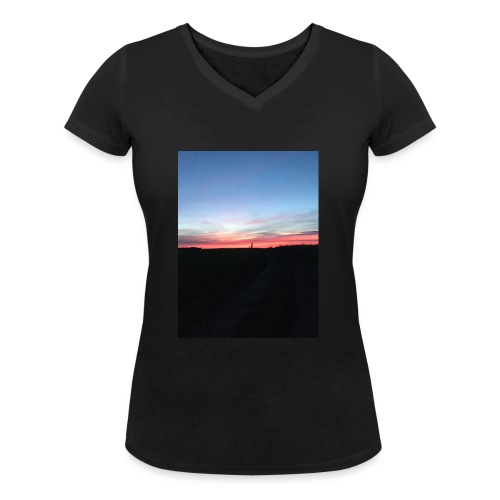 late night cycle - Women's Organic V-Neck T-Shirt by Stanley & Stella