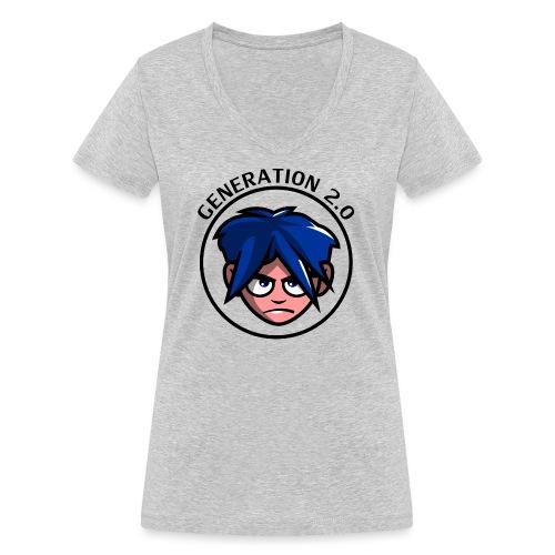 Generation 2.0 - T-shirt ecologica da donna con scollo a V di Stanley & Stella