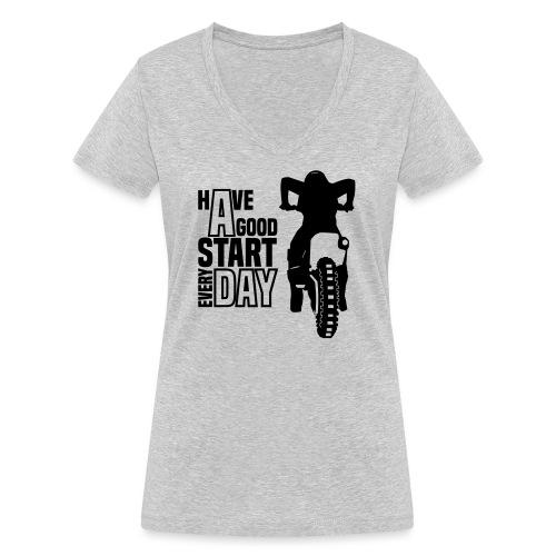 Have a good Start MX (HQ) - Frauen Bio-T-Shirt mit V-Ausschnitt von Stanley & Stella