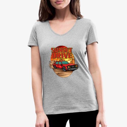 Sunset Drive - Frauen Bio-T-Shirt mit V-Ausschnitt von Stanley & Stella