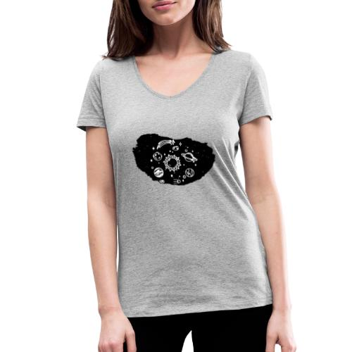 Lo strappo - T-shirt ecologica da donna con scollo a V di Stanley & Stella