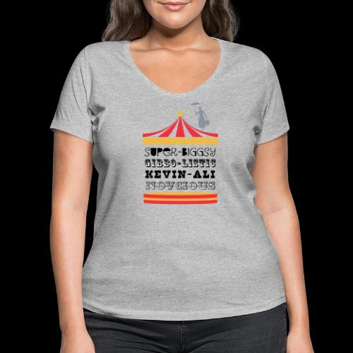 Phantom Bandstand - Women's Organic V-Neck T-Shirt by Stanley & Stella