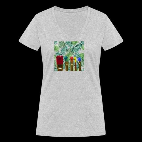 couleurs chauds des tropiques - T-shirt bio col V Stanley & Stella Femme