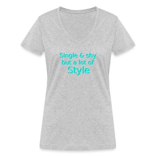 Single Shirt - Frauen Bio-T-Shirt mit V-Ausschnitt von Stanley & Stella
