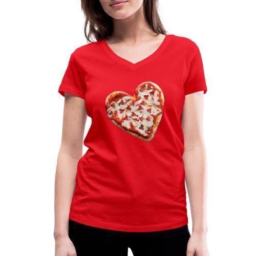 Pizza a cuore - T-shirt ecologica da donna con scollo a V di Stanley & Stella