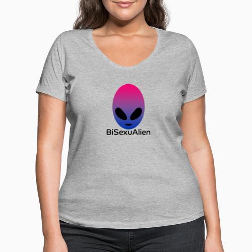BiSexuAlien - Women's Organic V-Neck T-Shirt by Stanley & Stella
