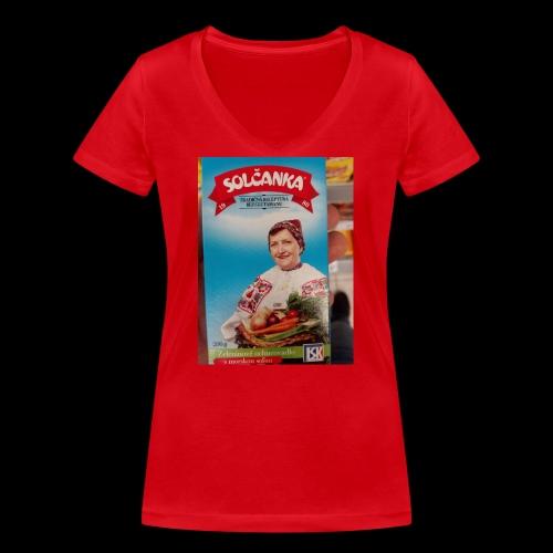 Babushka's fines - Women's Organic V-Neck T-Shirt by Stanley & Stella