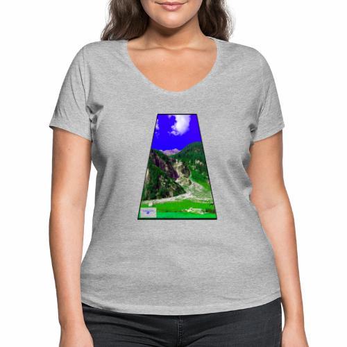 BergAUsBlick ValC - Frauen Bio-T-Shirt mit V-Ausschnitt von Stanley & Stella