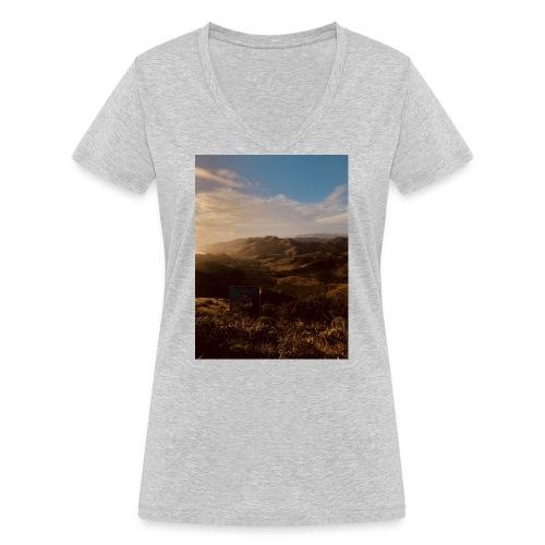rigo poncio - Camiseta ecológica mujer con cuello de pico de Stanley & Stella