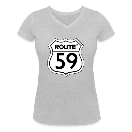 Route 59 zwart wit - Vrouwen bio T-shirt met V-hals van Stanley & Stella