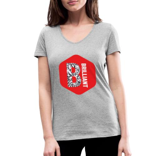 B brilliant red - Vrouwen bio T-shirt met V-hals van Stanley & Stella