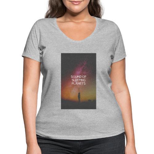 planets - T-shirt ecologica da donna con scollo a V di Stanley & Stella
