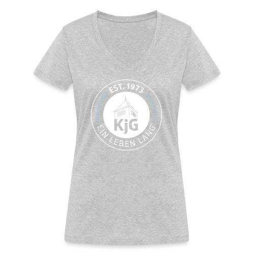 KjG - Ein Leben lang - Frauen Bio-T-Shirt mit V-Ausschnitt von Stanley & Stella
