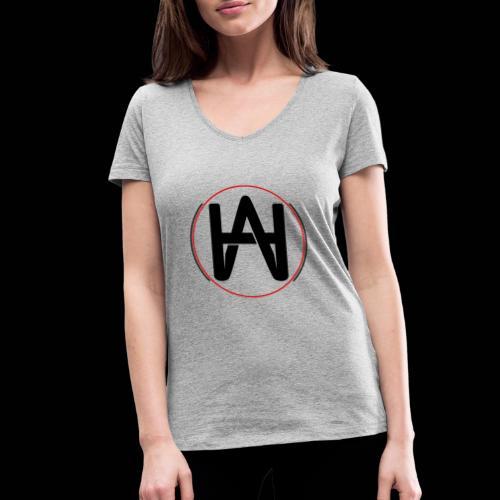 Logo Circulo rojo - Camiseta ecológica mujer con cuello de pico de Stanley & Stella