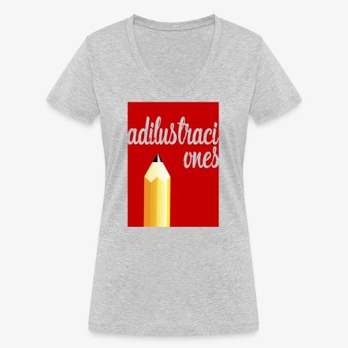 Ad ilustraciones Rojo - Camiseta ecológica mujer con cuello de pico de Stanley & Stella