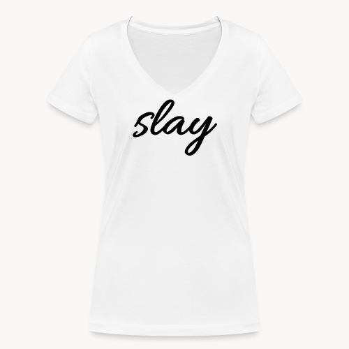 SLAY - Stanley & Stellan naisten v-aukkoinen luomu-T-paita