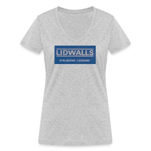 Lidwalls Stålbåtar - Ekologisk T-shirt med V-ringning dam från Stanley & Stella