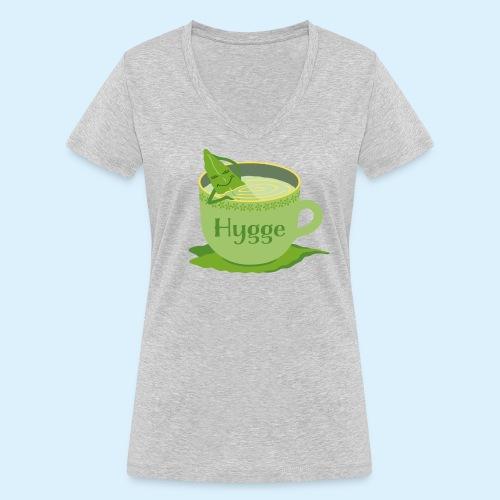 Hygge mit Tee - Frauen Bio-T-Shirt mit V-Ausschnitt von Stanley & Stella
