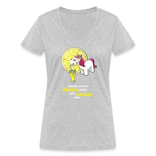 Wenn das Leben dir Zitronen schenkt - hell - Frauen Bio-T-Shirt mit V-Ausschnitt von Stanley & Stella