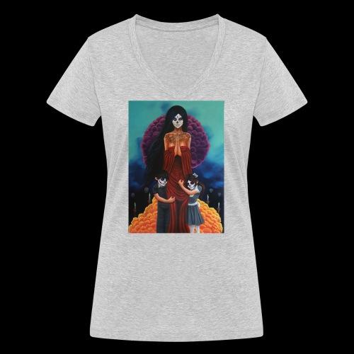 los fieles difuntos - Women's Organic V-Neck T-Shirt by Stanley & Stella