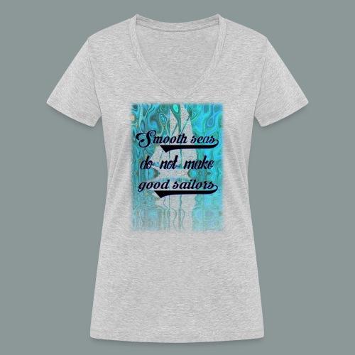 smooth seas - Frauen Bio-T-Shirt mit V-Ausschnitt von Stanley & Stella