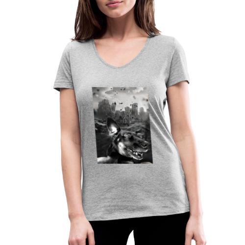 Chaos - Frauen Bio-T-Shirt mit V-Ausschnitt von Stanley & Stella