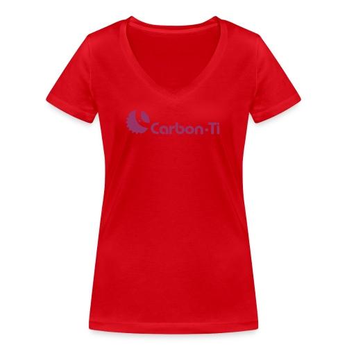 Carbon-Ti_logo - T-shirt ecologica da donna con scollo a V di Stanley & Stella