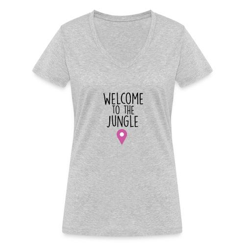 welcome to the jungle - T-shirt ecologica da donna con scollo a V di Stanley & Stella