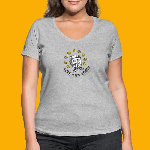 Dat Robot: Love Thy Robot Series Light - Vrouwen bio T-shirt met V-hals van Stanley & Stella