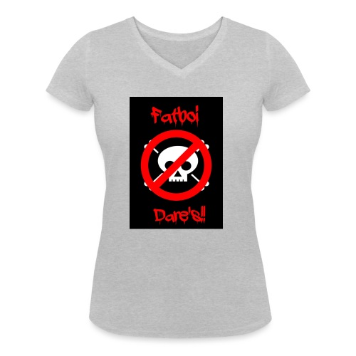 Fatboi Dares's logo - Women's Organic V-Neck T-Shirt by Stanley & Stella