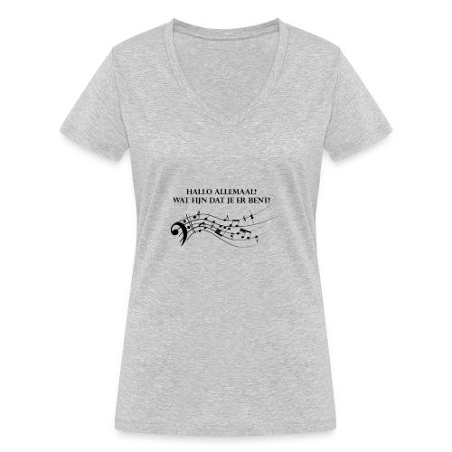 Hallo allemaal! - Vrouwen bio T-shirt met V-hals van Stanley & Stella