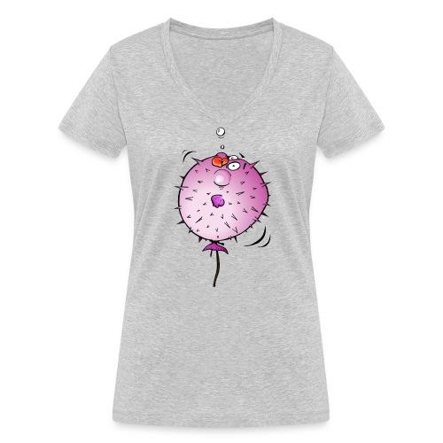 Blaasvis - Vrouwen bio T-shirt met V-hals van Stanley & Stella